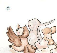 Children Art Print. VIOLET. Reaching For A Star. PRINT 8X10. Nursery Art Home…