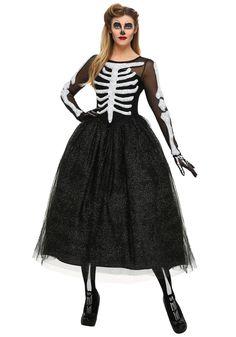 Women s Skeleton Beauty Costume Nápady Na Halloween de6b5792b15