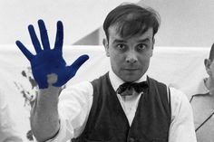 """Yves Klein  found a synthetic resin called Rhodopas M60A in 1956. When combined with an ultramarine pigment, this colorless medium allowed the powder to retain what Klein described as """"pure energy"""".    #blue #inspiration #art #colors"""