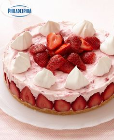 Make your Mother's Day celebration sweet with Strawberry Cheesecake Supreme #recipe. Tap or click photo for this easy #recipe.
