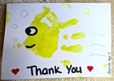 Homemade Thank You card from my daughter - Age 1