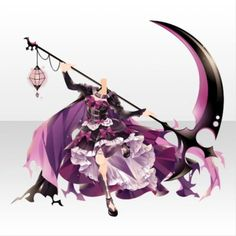Anime Weapons, Fantasy Weapons, Anime Grim Reaper, Anime Scythe, Mad Face, Anime Dress, Cocoppa Play, Braids For Short Hair, Weapon Concept Art