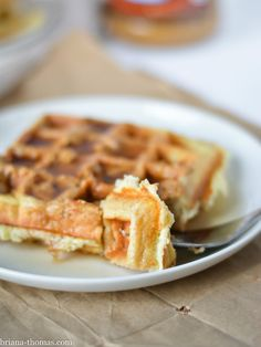 These 5-Ingredient Waffles are an easy make-ahead breakfast and are perfect for your fave low carb toppings! THM:S, sugar free, gluten and nut free