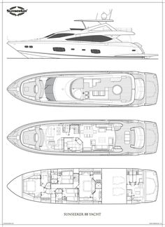 Sunseeker 88 yacht plans