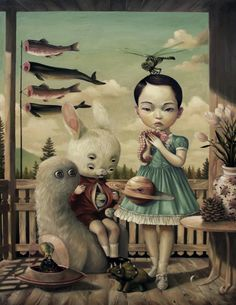 Roby Dwi Antono is a artist, illustrator and graphic designer from Indonesia, who's strongly influenced by pop surrealist Mark Ryden. Art Bizarre, Creepy Art, Weird Art, Art And Illustration, Portrait Illustration, Art Illustrations, Fashion Illustrations, Art Inspo, Kunst Inspo