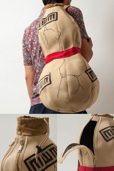 Enjoy a practical representation of Gaara's gourd with this high-quality bag! While Gaara's gourd was made of sand and could be broken down to use in certain techniques, this bag is durable and can withstand everyday use. #naruto #gaara #anime #cosplay