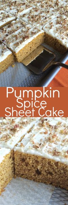 Pumpkin Spice Sheet Cake - Together as Family