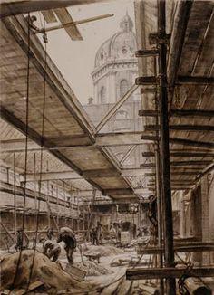 The Imperial War Museum, 1935 : Showing the main art gallery under construction. Image © IWM (Art.IWM ART LD 509)