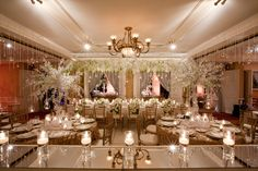 What an elegant reception. The candles and the white decor bring a softness to the elegance. Hanging Crystals give a glamorous feel. What a mix of glamour and tranquility we love it! Wedding Rehearsal, Wedding Reception, Our Wedding, Dream Wedding, Wedding Stuff, Reception Ideas, Wedding Things, Rustic Purple Wedding, Glamorous Wedding