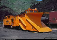 RailPictures.Net Photo: DRGW X-67 Denver & Rio Grande Western Railroad Russell Snow Plow at Minturn, Colorado by James Belmont