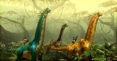 A group of Brachiosaurus at DinoStorm.com