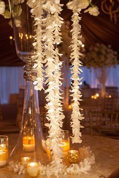 orchid strands + gold candlelight @ivyrobinson @corbin