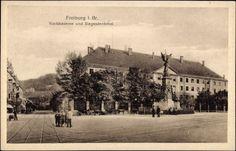 Siegesdenkmal um 1900 - Alte Postkarte die Siegesdenkmal und Karlskaserne zeigt. Aufnahme dürfte um 1900 rum entstanden sein. Die Karlskaserne ist heute das Sozial- und Jugendamt.  Vielen Dank für dieses Bild an unseren Facebook-Fan Michael Engl.  /*  */