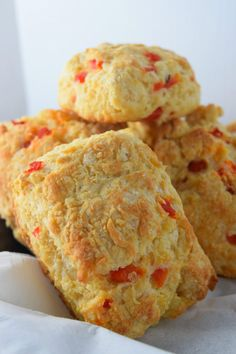 Pimento Cheese Biscuits Ready for Breakfast