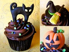Cupcakes, Halloween toppers