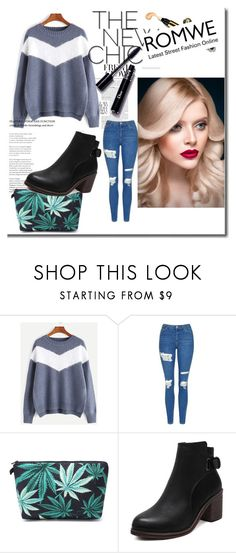 """""""Romwe 39"""" by zerina913 ❤ liked on Polyvore featuring Topshop and romwe"""