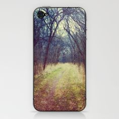 The Woods Are Lovely, Dark and Deep...  iPhone & iPod Skin by Laura George - $15.00