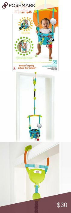Jolly jumper baby exerciser gift set baby jumpers for Door bouncer age