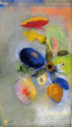 Flowers by Odilon Redon.