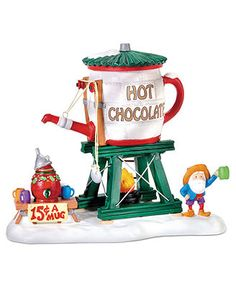 Department 56 Collectible Figurine, North Pole Village Hot Chocolate Tower