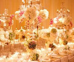 Blanco y boda del oro, boda judía, tradicional, formal, Palm Beach | | Bodas Colin Cowie