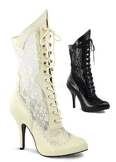 5 Lace Up Heel Boot