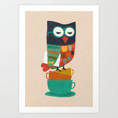 Morning Owl Art Print by Budi Satria Kwan - $19.97