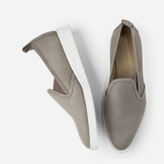 The Everlane Street Shoe in Taupe