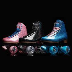 Stardust Black Glitter Skates