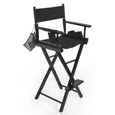 This chair is great for beauty makeup artists and motion picture directors. Its built of sturdy wood in a black finish with heavy-duty hardware. It folds making it flexible and easy to transport and the only assembly needed is the foot rest. It comes with a water bottle holder, two (2) small... more details available at https://furniture.bestselleroutlets.com/game-recreation-room-furniture/directors-chairs/product-review-for-professional-makeup-artist-directors-chair-light-we