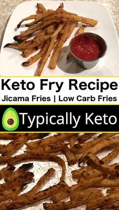 The perfect keto French fry recipe! Try this low carb jicama fry recipe to get your French fry fix