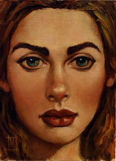 NEW WOMEN 20 by Mollie Erkenbrack. Oil on Linen Panel