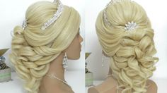 Curly prom hairstyle for long hair tutorial.