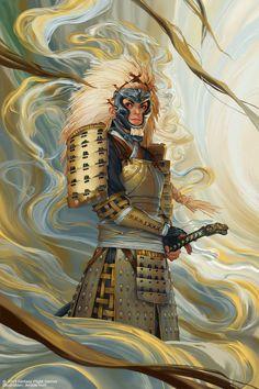 Samurai co akodo Dragon Samurai, Ronin Samurai, Character Concept, Character Art, Concept Art, Character Design, Dnd Characters, Fantasy Characters, Female Characters