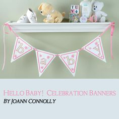 """Free instructions & files for my """"baby"""" banner at Designs in Machine Embroidery magazine"""