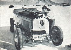 corporalsteiner    girlsandmachines:  Doris Stinson and her roadster