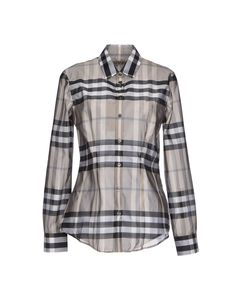 Burberry London Women's Dress Shirt w/Designer Motif