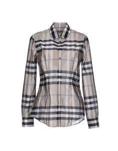 Burberry London Women's Dress Shirt w/Designer Motif
