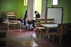An engaging teacher in La Limonada  #Guatemala