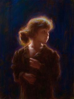 """Susan Lyon - """"Far off Moonlight"""" - oil on canvas - 16 by 12 inches"""