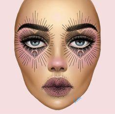 inspired by 👁🖤 - - Goth Makeup, Fx Makeup, Makeup Inspo, Makeup Inspiration, Beauty Makeup, Makeup Ideas, Maquillage Halloween, Halloween Makeup, Makeup Face Charts