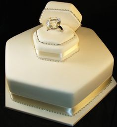 Simple and beautiful  Engagements Cakes Adelaide - Sugar and Spice Cakes Adelaide