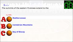 Pyrenees mountains facts free games online to play consist of facts about Pyrenees mountains which have been embedded in to games. These free games online consist of two players' interactive activity which helps kids and students to evaluate. Geography Games, Geography Worksheets, Bay Of Biscay, Interactive Activities, Pyrenees, Online Games, Free Games, Facts, Play