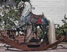 Verdi we were inspired by the noble Spanish, Andalusian horses. Carrousel, Antique Rocking Horse, Rocking Horses, Antique Toys, Vintage Toys, Equestrian Decor, Wooden Horse, Andalusian Horse, Painted Pony