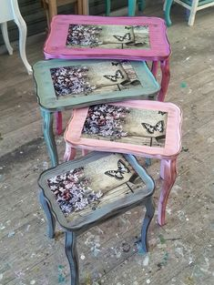 Mobili per decoupage – Recycled Furnitures Ideas Decoupage Furniture, Diy Furniture Projects, Hand Painted Furniture, Recycled Furniture, Paint Furniture, Handmade Furniture, Vintage Furniture, Diy Old Furniture Makeover, Diy Furniture Restoration