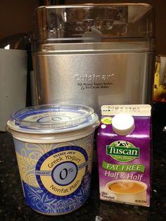 Homemade Greek Frozen Yogurt