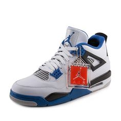 Jordan Men Air 4 Retro Motorsports (white game royal-black) Size 11.5 9665c5f8e