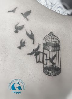 caged bird tattoo divorce - Google Search                                                                                                                                                      Plus