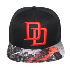1a952eb3c54 Grab this Marvel Comics Daredevil Sublimated Brim Logo Snapback from  Bioworld. Go get it now