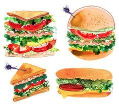 Sandwiches by © Margaret Berg www.margaretbergart.com